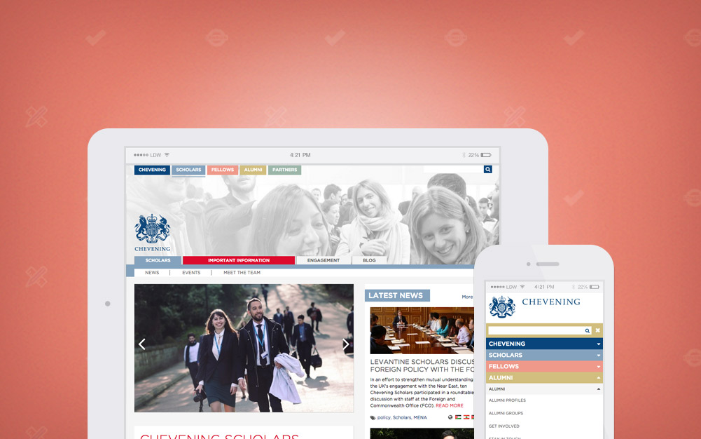 Chevening Scholarship Drupal High Traffic Website