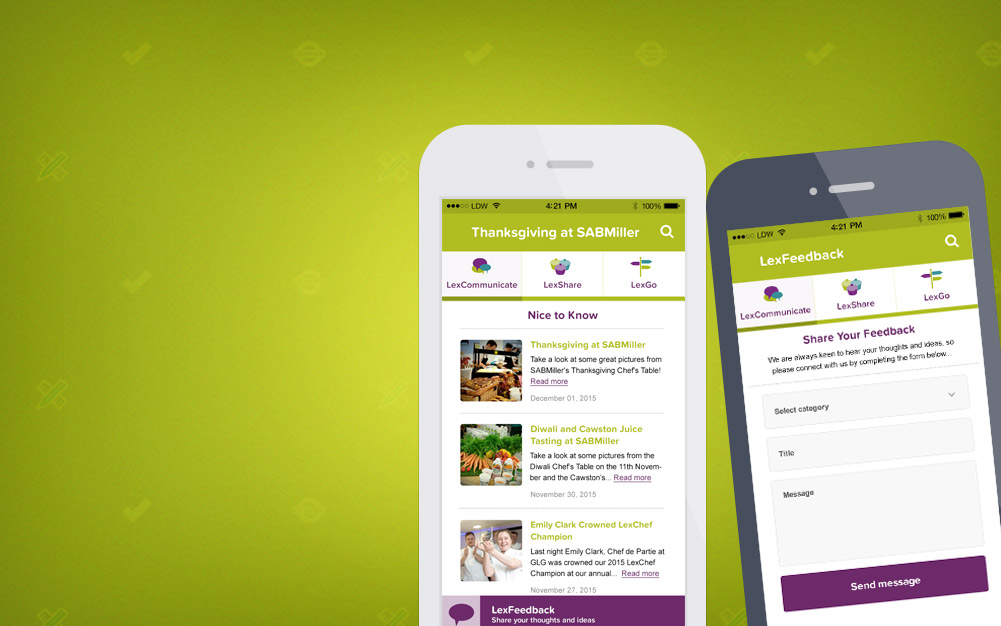 Lexington Catering LexConnect Extranet Mobile App