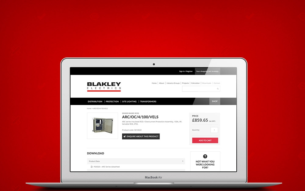 Blakley Electrics Drupal E-Commerce product